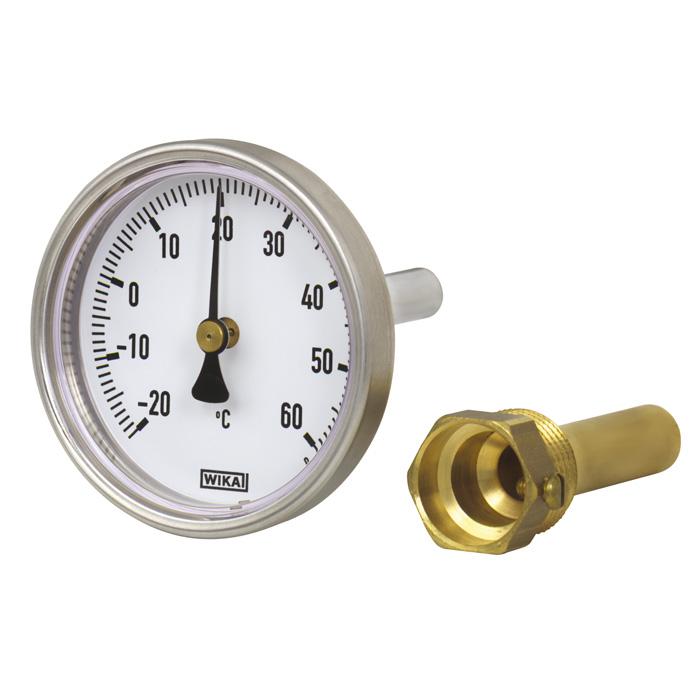 Биметаллический термометр WIKA 80 мм 0...+160 C тип A50