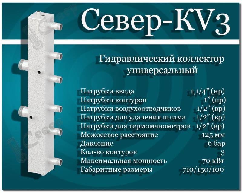 Гидравлический коллектор СЕВЕР-KV3